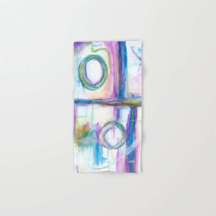 Just the Three of Us, Abstract Art Painting Hand & Bath Towel