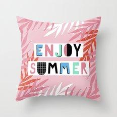 Enjoy summer Throw Pillow