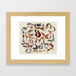 Foxy Pattern Framed Art Print