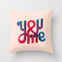 You & Me Lettering Throw Pillow