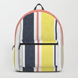 Circles and stripes pattern Backpack