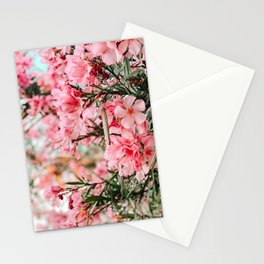 pink oleanders Stationery Cards