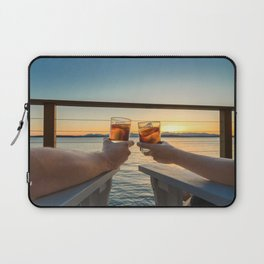 Sailing sunset couple toasting Laptop Sleeve