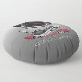 Stack of Volvo 480 Turbos Floor Pillow