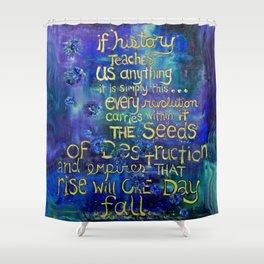 .seeds of destruction. Shower Curtain