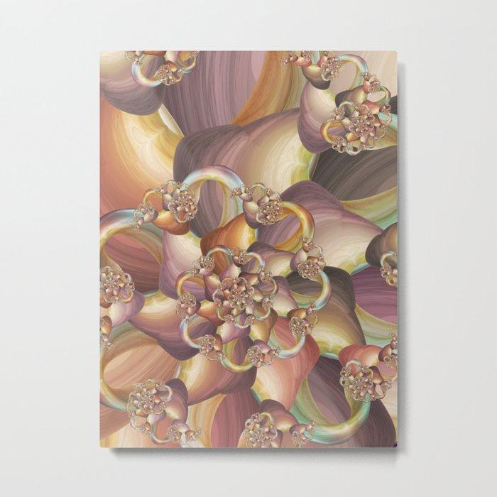 Quiescence Floral Fractal Metal Print