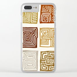 African Ceremonial Pattern Clear iPhone Case