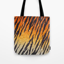 Tiger Shout Glitter Stripe Tote Bag