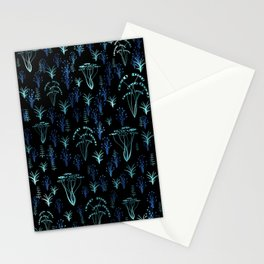 Blue luminescent Stationery Cards