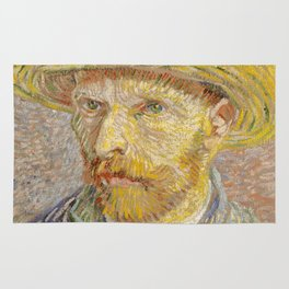 Self-Portrait with Straw Hat Rug