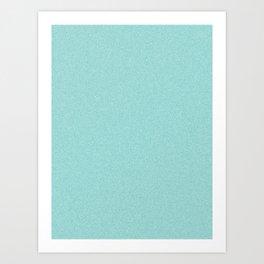 Dense Melange - White and Verdigris Art Print