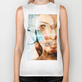 faces of Angelina Jolie Biker Tank