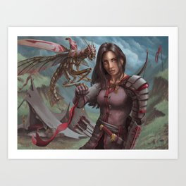 Mantis Warden Art Print