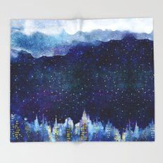 BLUE NIGHT Throw Blanket