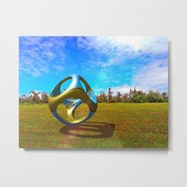 Apple Orchard Abstract Metal Print