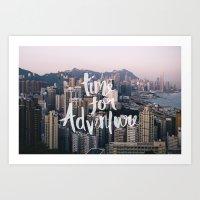 Time for Adventure - Hong Kong Art Print