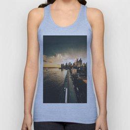 nyc skyline at dusk Unisex Tank Top