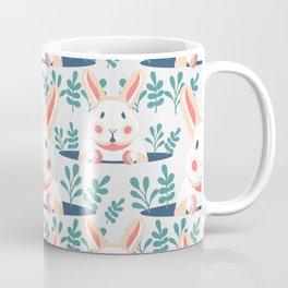 Easter Bunny Spring Rabbit Floral Print Coffee Mug