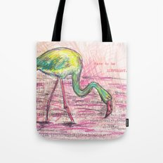 Dare to be different, Flamingo Tote Bag