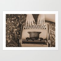 write Art Prints featuring Write. by Wendy Waldrop