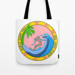 Girls Surf Too solid Tote Bag