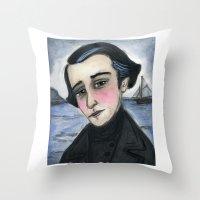 patrick Throw Pillows featuring Patrick by Debra Styer