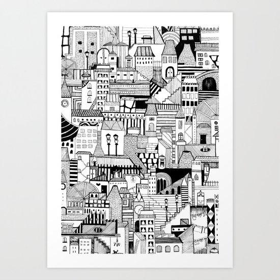 Noir City Art Print