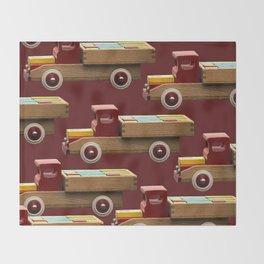 Vintage wooden toy truck #decor #society6 #buyart Throw Blanket