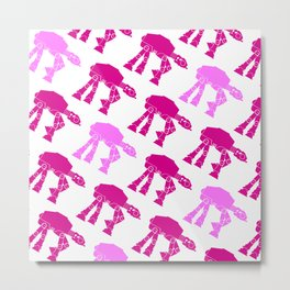 AT-AT's in Pinks Metal Print