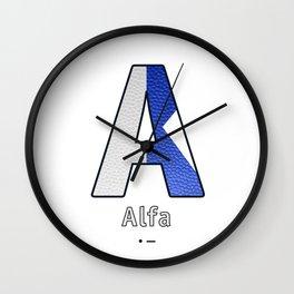 Alfa - Navy Code Wall Clock