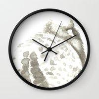 pigeon Wall Clocks featuring Pigeon by Goran Medjugorac