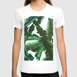 tropical banana leaves pattern 2 T-shirt