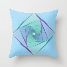 Downward Spiral Throw Pillow