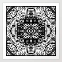 One Corner Scribble Art Print