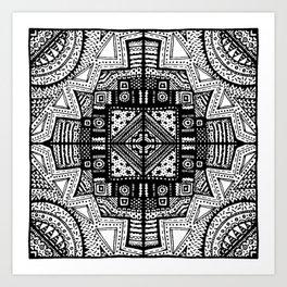 One Corner Scribble Art Print