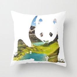 Pandaland Throw Pillow