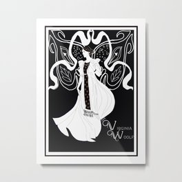 Virginia Woolf Art Nouveau Metal Print