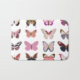Pink Butterflies Badematte