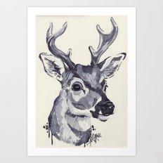 Deer Sketch Art Print