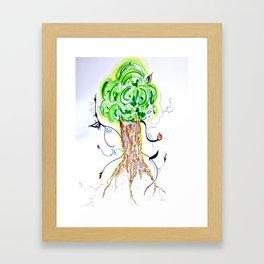 Liz Leaves the Nest Framed Art Print
