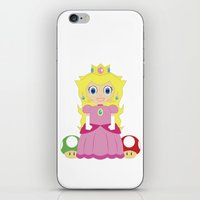 princess peach iPhone & iPod Skins featuring Princess Peach by Xiao Twins