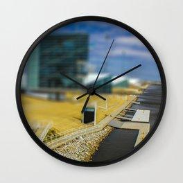 Boat Dock by Monique Ortman Wall Clock