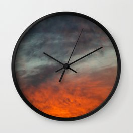 Fire after the storm. Wall Clock