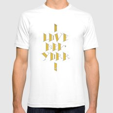 I Love New York Mens Fitted Tee White SMALL