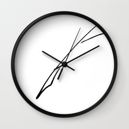 Black Writer's Quill Wall Clock