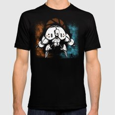 Last Boss SMALL Black Mens Fitted Tee