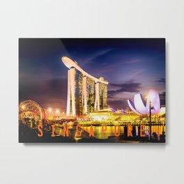 Singapore, Marina Bay Metal Print