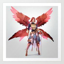 Crimson Wings Art Print