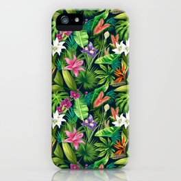 Tropical Lush Sanctuary, A Bohemian Paradise iPhone Case