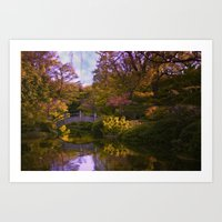 oasis Art Prints featuring oasis by Ruby Del Angel